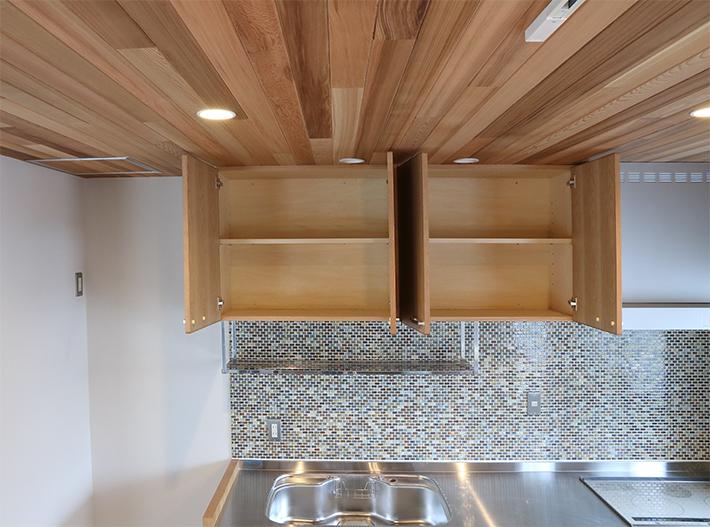 オーダーキッチン収納吊り戸棚